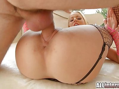 AllInternal Sweet blonde newcomer gets a pussy cum injection
